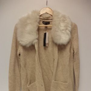 Banana Republic Faux Fur Collar Sweater
